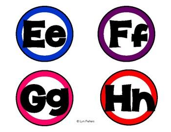 Rainbow Word Wall Alphabet Letters
