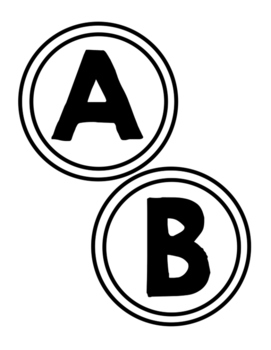 Word Wall Alphabet Letters: Black and White