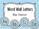 Word Wall Alphabet Letters - Blue Chevron