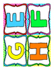 Word Wall Alphabet Letters UPPERCASE (Bright Colors)
