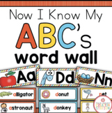 Alphabet Word Wall with Keyword Cards {Now I Know My ABC's