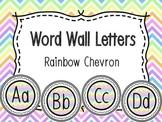 Word Wall Alphabet Letters - Rainbow Chevron