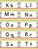 Word Wall Alphabet Letters - Rainbow Chevron- Free