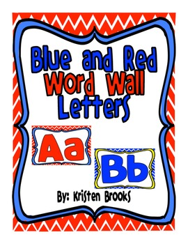 Word Wall Alphabet Letters (Red and Blue)