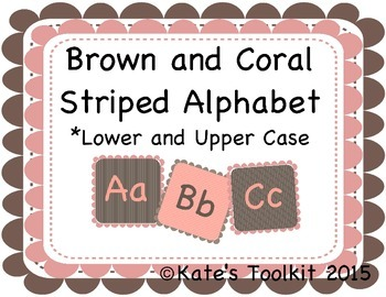 Word Wall Alphabet Letters Upper and Lowercase