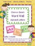 Word Wall Alphabet Letters {chevron beach}