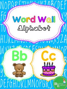 Word Wall Alphabet - Neon