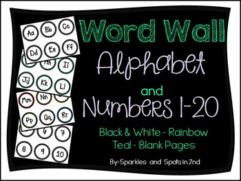 Word Wall Alphabet & Numbers