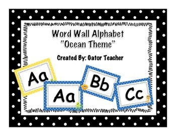 Word Wall Alphabet Only- Ocean Theme