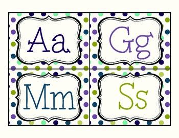 Word Wall Alphabet - Polka Dots