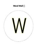 Word Wall Alphabet Rainbow Zebra Print Design