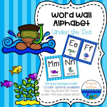 Word Wall Alphabet - Under the Sea Decor ~ Stripes
