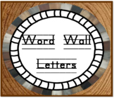 Word Wall Alphabet Letter Cards - Woodland theme