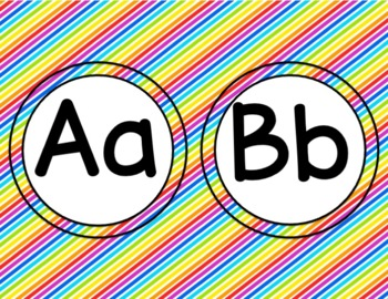 Word Wall ~ Alphabet and Words ~ Rainbow Theme ~ EDITABLE! Back to School