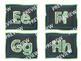 Word Wall Alphabet in Green & Blue