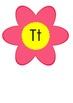Word Wall Alphabet on Flowers