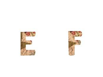 Quilt Print Word Wall Alphabet  :