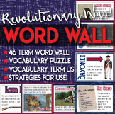 Word Wall American Revolution or Revolutionary War Vocabulary Practices