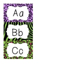 Word Wall Animal Print Letter Cards