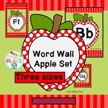 Word Wall - Apple Set
