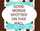 Word Wall Aqua  Dots