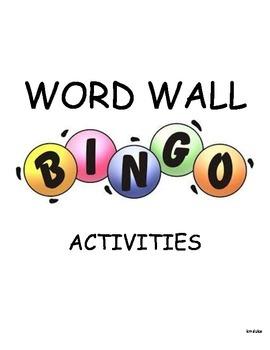 Word Wall BINGO