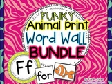 Word Wall BUNDLE {Funky Animal Print} with Headers, Pictures, and 200+  Words