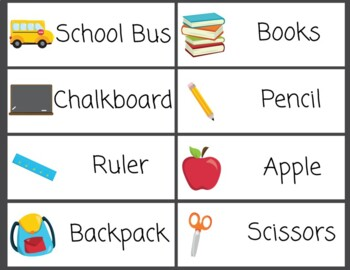 Word Wall Back to School