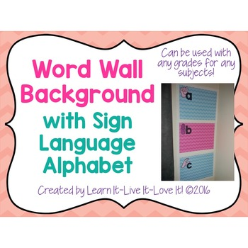 Word Wall Background with Sign Language