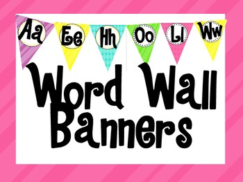 Word Wall Bright Colored Banner