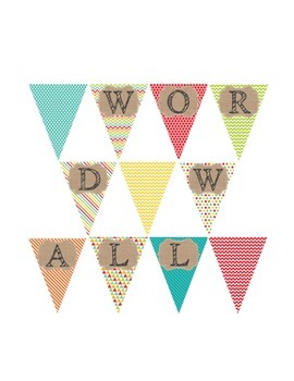 Word Wall Banner (Bouncy House)