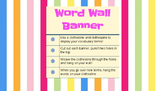 Word Wall Banner Geometric Design