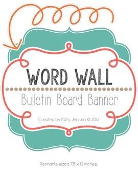 Word Wall Banner (Harper)