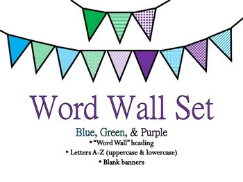 Word Wall Banner Headings