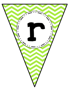 Word Wall Banner Letters Pennants Chevron Free