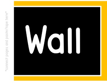 Word Wall Banner (Yellow Gold and Black)