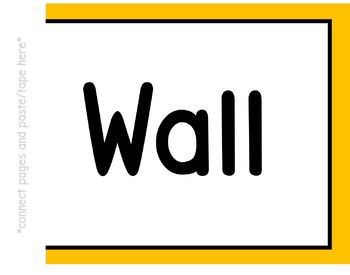Word Wall Banner (Yellow Gold and White)
