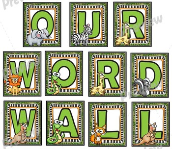 Word Wall Banner and Headers Set with Calendar Numbers