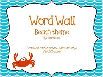 Word Wall Beach Theme