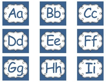 Word Wall - Bilingual Letters (Blue/Red)