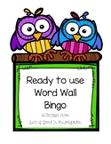 Word Wall Bingo