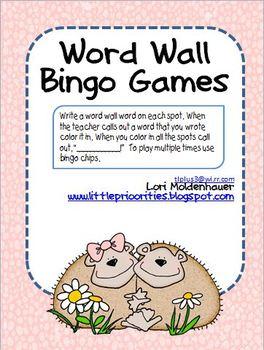 Word Wall Bingo Freebie