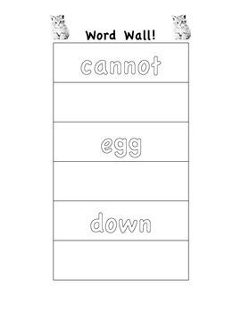Word Wall Bingo and Handwriting