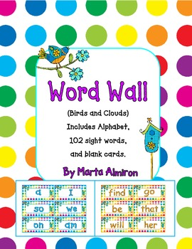 Word Wall - Birds and Dots