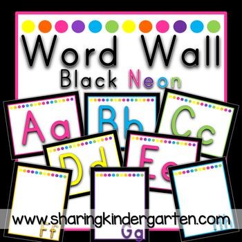 Word Wall {Black Neon}