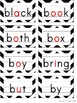 Word Wall - Black & White Chevron with Color Pictures and Vowels