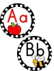 Word Wall - Black & White Polka Dot with Color Pictures and Vowels