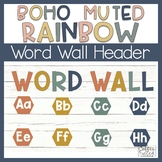 Word Wall Boho Rainbow