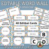 Word Wall Boho Rainbow Themed Class Decor, Word Cards