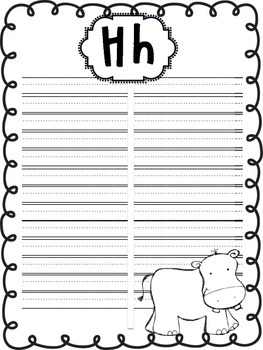 Word Wall Book {A page for each letter}